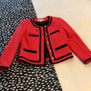 J. Crew pink size 4 wool jacket
